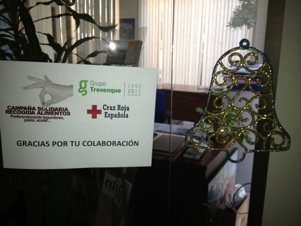 Cartel recogida Cruz Roja