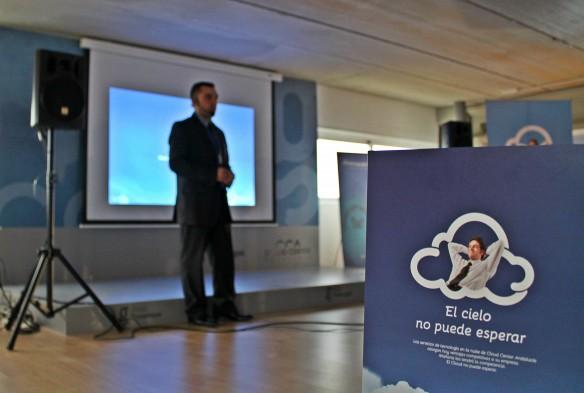 Presentación de 'El cielo no puede esperar' en Cloud Center Andalucía. / GT.
