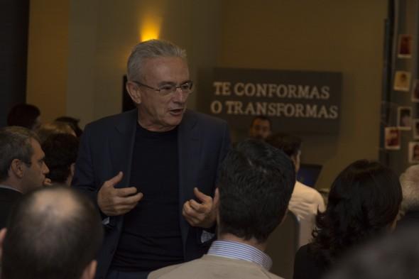 El director general de Grupo Trevenque, Juan Ramón Olmos, despide el año instando a sus trabajadores a no conformarse y seguir creciendo personal y profesionalmente. / G.T.