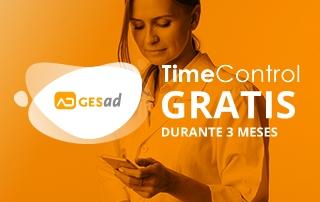 Contrata Gesad y te regalamos 3 meses de TimeControl