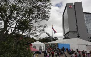 Vista de edificios y carpas en los que se ha celebrado la FILBO 2019