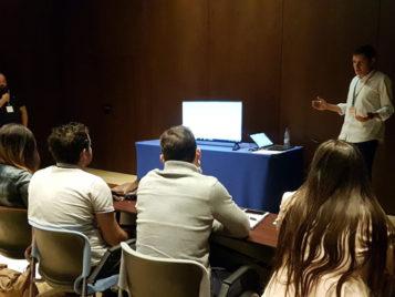 Javier Funes y David Comino, durante el taller de Grupo Trevenque en el eCongress