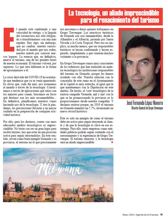 Artículo de José Fernando López Navarro en la revista 'Agenda de la Empresa'