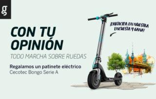 Participa en nuestra encuesta y gana un patinete eléctrico Cecotec Bongo Serie A