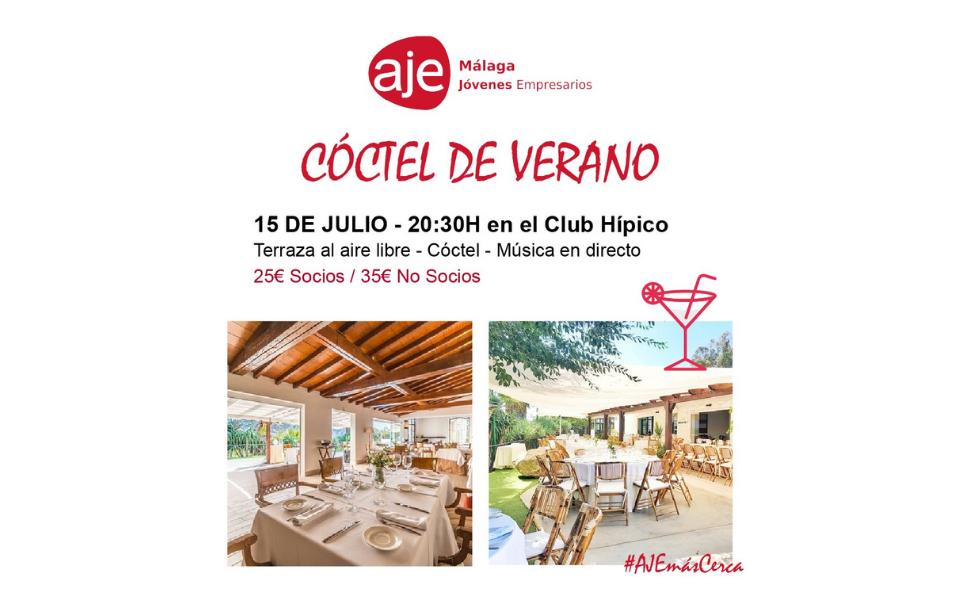 Cóctel de verano AJE Málaga